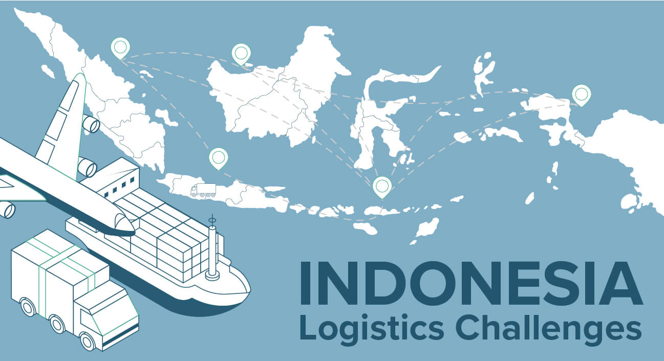 Why is it challenging to transport items in Indonesia?