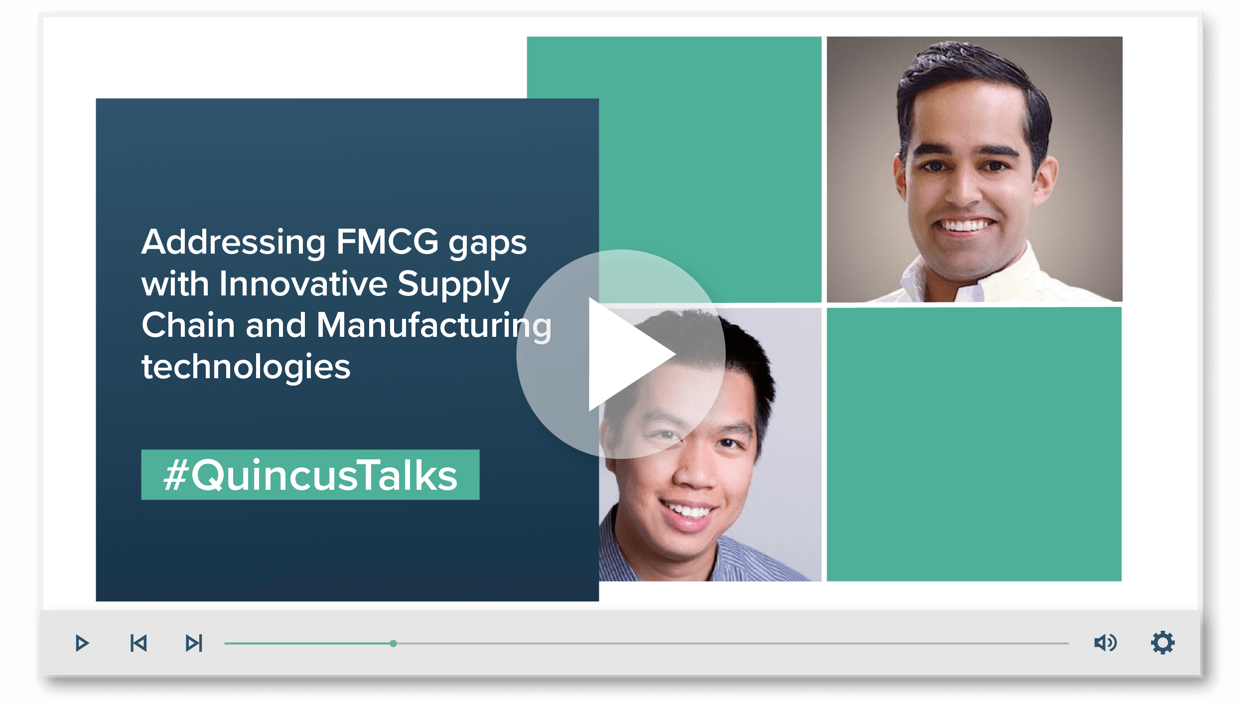 #1: Addressing FMCG gaps with Innovative Supply Chain and Manufacturing Technologies