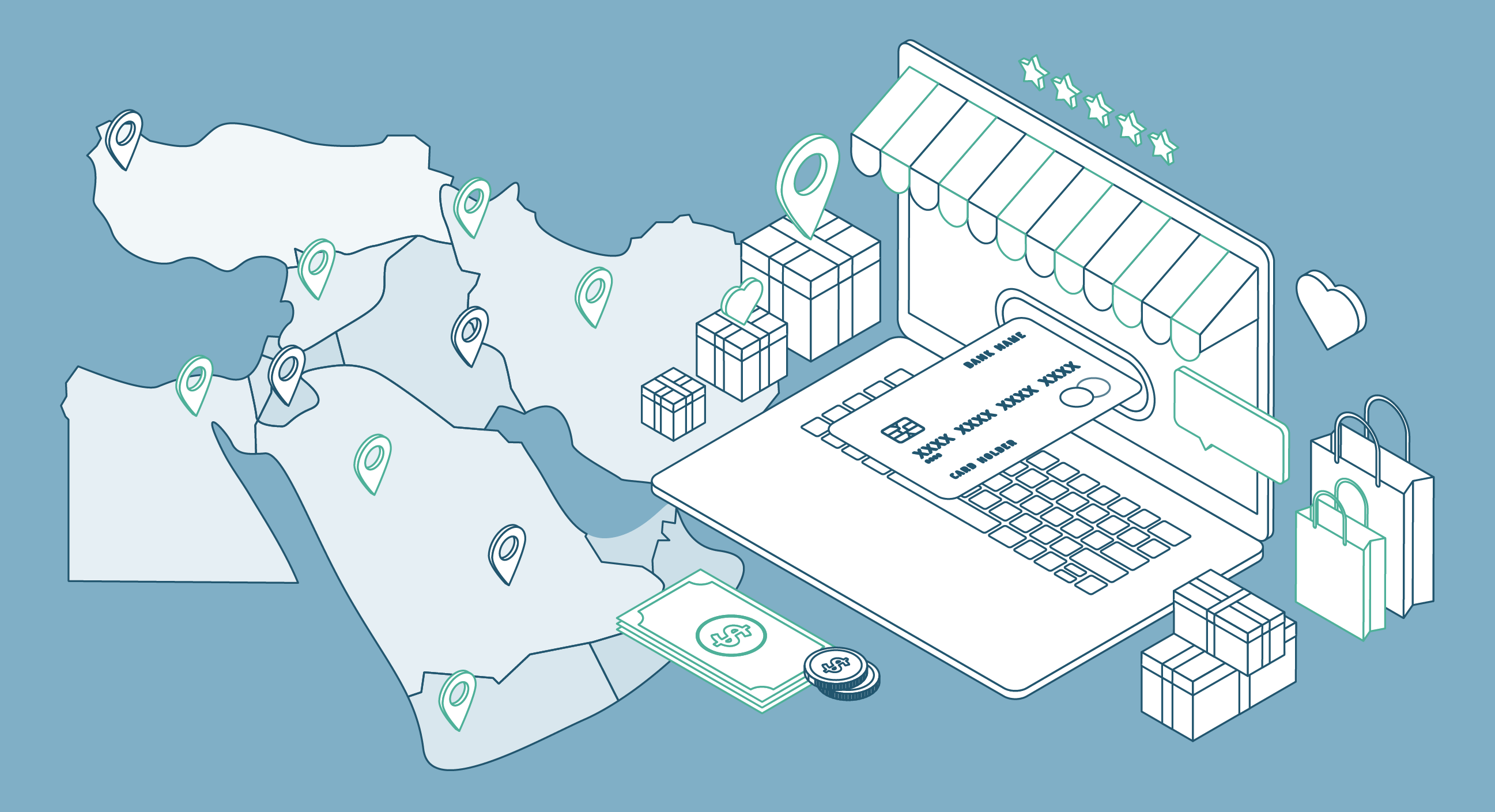 The Middle East: Be part of the growing e-commerce industry