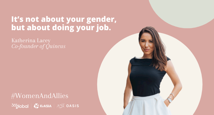 Oasis: It's not about your gender, but about doing your job